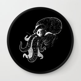 Highly remarkable tentacular monster 2 Wall Clock