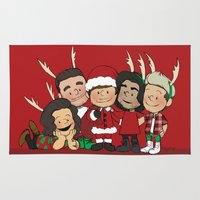 liam payne Area & Throw Rugs featuring It's Christmas, Liam Payne by Ashley R. Guillory