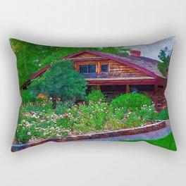 The Arizona Territorial Rose Garden Rectangular Pillow