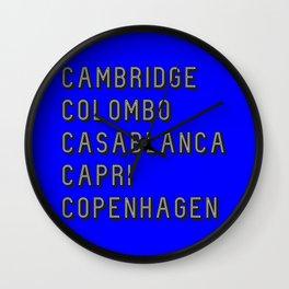 Join the Journey – Copenhagen Wall Clock