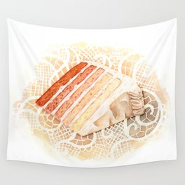 Ombre Cake Slice Wall Tapestry