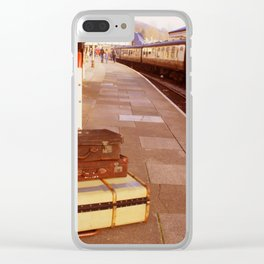 Cases At The Old Train station Warm Hues Clear iPhone Case