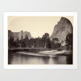 View from Camp Grove, Yosemite Art Print