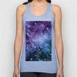 Purple Teal Galaxy Nebula Dream #4 #decor #art #society6 Unisex Tank Top