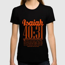 Bible Verse Isaiah 40:31 Christian Quote T-shirt