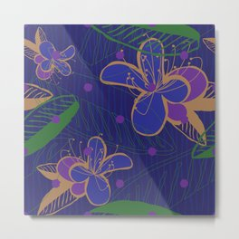 Purple Floral Dream Metal Print