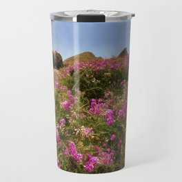 Flowers on the Beach Travel Mug