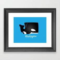 The Washington Whale Framed Art Print