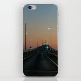 Bridge after sundown iPhone Skin
