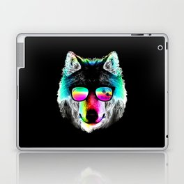 Wolf Rainbow Sunglasses Laptop & iPad Skin