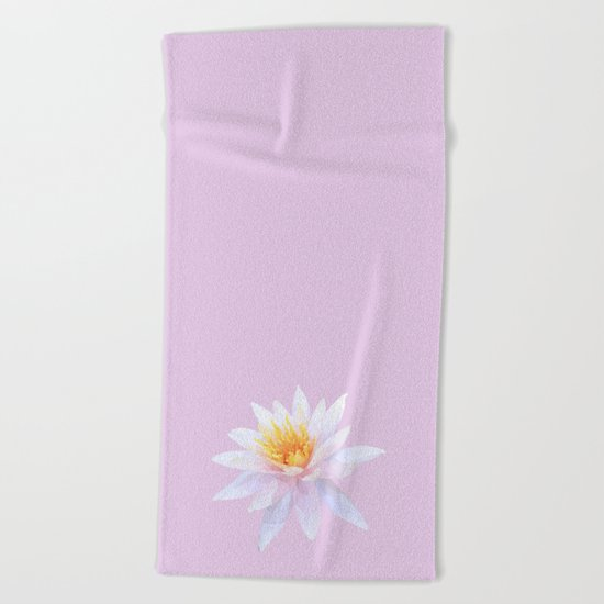 Geometric Lotus Flowers Beach Towel