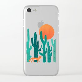 Desert fox Clear iPhone Case