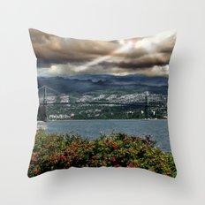 Bridge Near Vancouver Throw Pillow