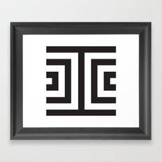 Black Greek Stripes Framed Art Print