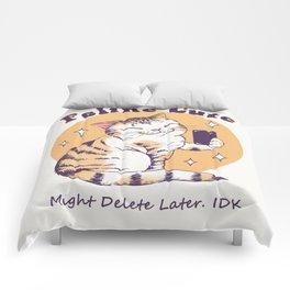 Feline Cute Challenge Comforters