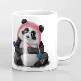 Panda eating a donut Coffee Mug