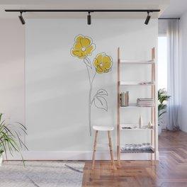 Mustard Bloom Wall Mural