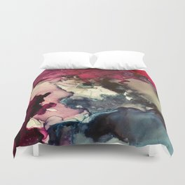 Dark Inks - Alcohol Ink Painting Duvet Cover