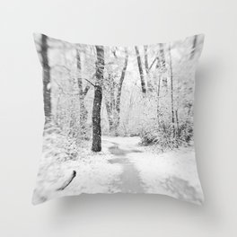 Drawn to Winter Throw Pillow