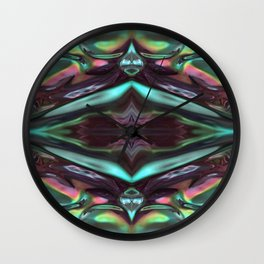 Abstract Glass Multi-coloured 1083 Wall Clock