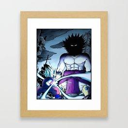 Goku vs Broly Framed Art Print