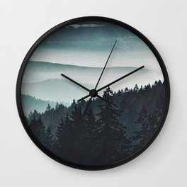Mountain Light Wall Clock