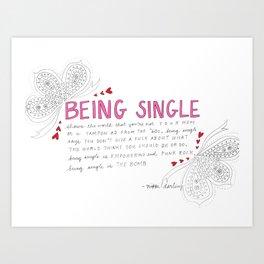 Single Valentine Art Print