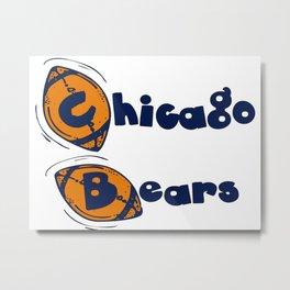 Da Bears Font Typography Metal Print