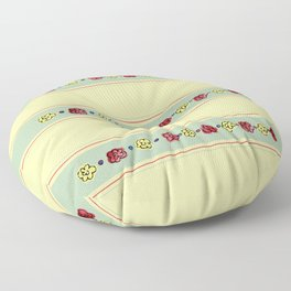 A Rosey Outlook Yellow Floor Pillow