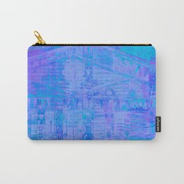 Totem Pole Cabin Abstract - Blues & Purples Carry-All Pouch