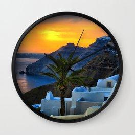 Santorini 11 Wall Clock
