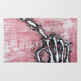 Sensitive Skelly hand Rug