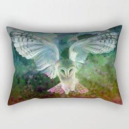 """""""Owl flight and spring night"""" Rectangular Pillow"""