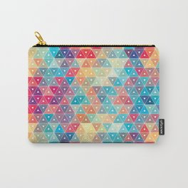 Colorful Triangle Geometric Patterns Carry-All Pouch