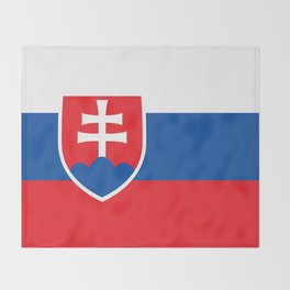 Slovakian Flag - High Quality Image Throw Blanket
