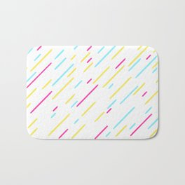 Simple Colorful Abstract Lines Pattern Bath Mat