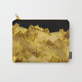 """Gold brushstrokes"" (Black) Carry-All Pouch"