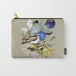 Yellow Birds Carry-All Pouch