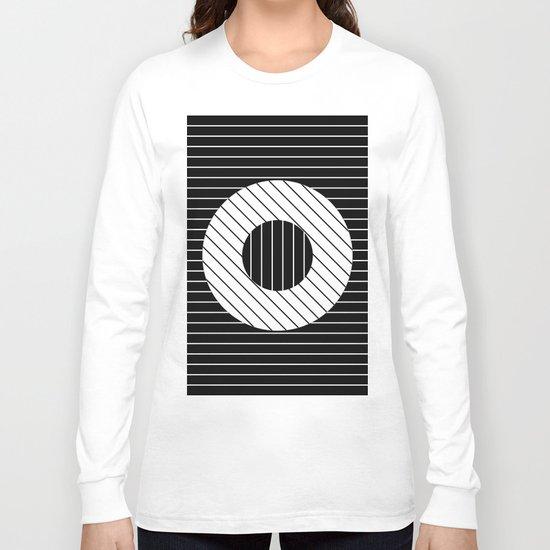 Turn (Minimalistic, black and white, geometric design) Long Sleeve T-shirt