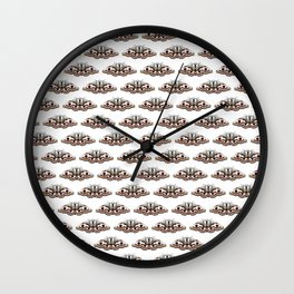 White moths Wall Clock