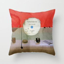 Post Suicide Throw Pillow