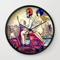wedding Wall Clocks featuring wedding! by Dilaraizm