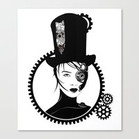 top gear Canvas Prints featuring Gear Girl by DespairLegion