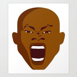 screaming face man Art Print
