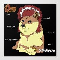 doge Canvas Prints featuring Diamond Doge by merimeaux
