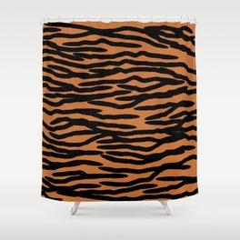 Tiger Skin Pattern Shower Curtain