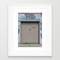 plain Framed Art Prints featuring Plain Door by Ethna Gillespie