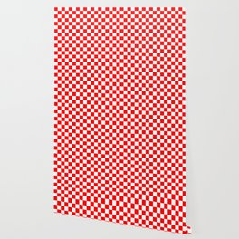Jumbo Australian Racing Flag Red and White Checked Checkerboard Pattern Wallpaper