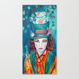 Mad hatter, Alice In wonderland Inspired artwork Canvas Print