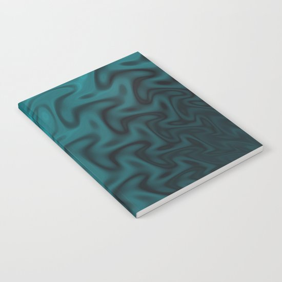 Ripples Fractal in Ocean Blue Notebook